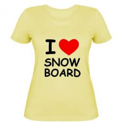 Женская I love Snow Board - FatLine