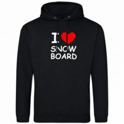 Толстовка I love Snow Board