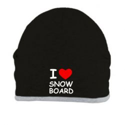 Шапка I love Snow Board - FatLine