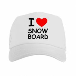 Кепка-тракер I love Snow Board - FatLine