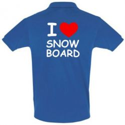 Футболка Поло I love Snow Board - FatLine