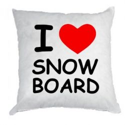 Подушка I love Snow Board