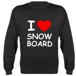 Реглан (свитшот) I love Snow Board - FatLine