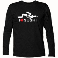 Футболка с длинным рукавом I love sushi - FatLine