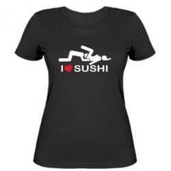 Женская футболка I love sushi - FatLine