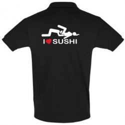 Футболка Поло I love sushi - FatLine