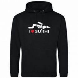 Мужская толстовка I love sushi - FatLine