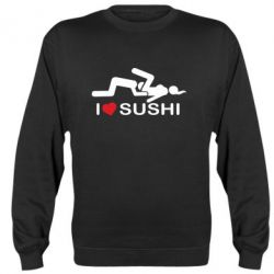Реглан (свитшот) I love sushi - FatLine
