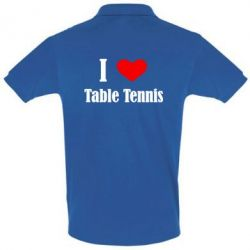 Футболка Поло I love table tennis - FatLine