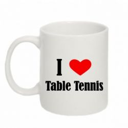 Кружка 320ml I love table tennis - FatLine