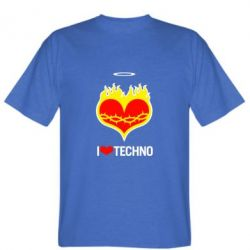 Футболка I love Techno logo