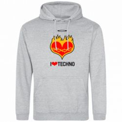 Толстовка I love Techno logo