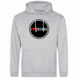 Толстовка I love techno music - FatLine