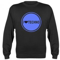 Реглан I love techno music - FatLine