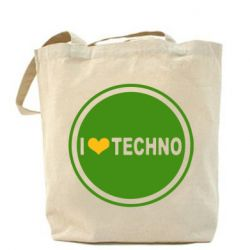 Сумка I love techno music