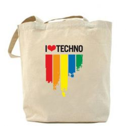Сумка I love techno - FatLine