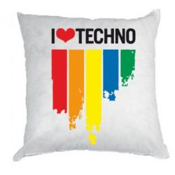 Подушка I love techno - FatLine
