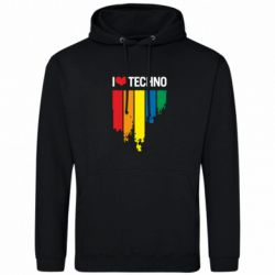 Толстовка I love techno - FatLine