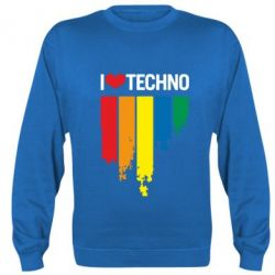 Реглан (свитшот) I love techno - FatLine