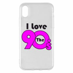 Чохол для iPhone X/Xs I love the 90