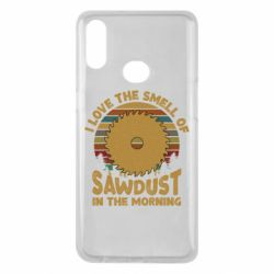 Чехол для Samsung A10s I Love the smell of sawdust in the morning