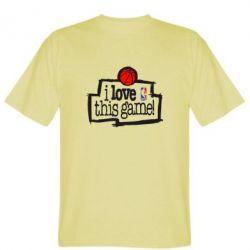Мужская футболка I love this Game - FatLine