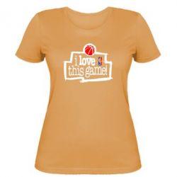 Женская футболка I love this Game