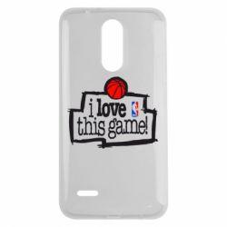 Чехол для LG K7 2017 I love this Game - FatLine