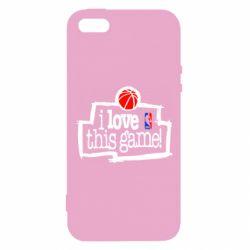 Чехол для iPhone5/5S/SE I love this Game - FatLine