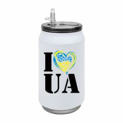 Термобанка 350ml I love UA (з серцем)