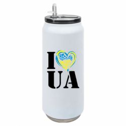 Термобанка 500ml I love UA (з серцем)