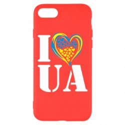Чохол для iPhone 7 I love UA (з серцем)