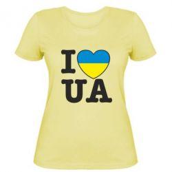 Женская футболка I love UA