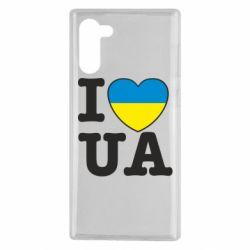 Чехол для Samsung Note 10 I love UA