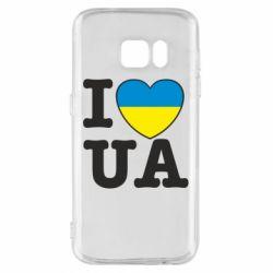 Чехол для Samsung S7 I love UA