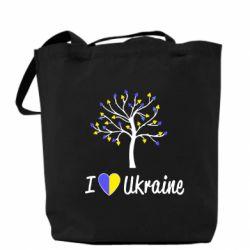 Сумка I love Ukraine дерево - FatLine