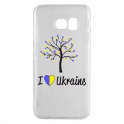 Чехол для Samsung S6 EDGE I love Ukraine дерево