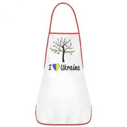 Фартук I love Ukraine дерево - FatLine