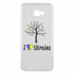 Чехол для Samsung J4 Plus 2018 I love Ukraine дерево