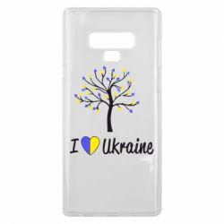 Чехол для Samsung Note 9 I love Ukraine дерево