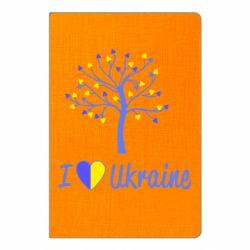 Блокнот А5 I love Ukraine дерево