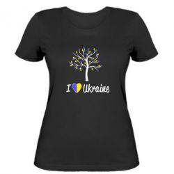 Женская футболка I love Ukraine дерево - FatLine