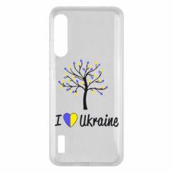 Чохол для Xiaomi Mi A3 I love Ukraine дерево