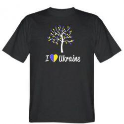 Мужская футболка I love Ukraine дерево - FatLine