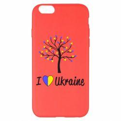 Чехол для iPhone 6 Plus/6S Plus I love Ukraine дерево