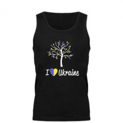 Мужская майка I love Ukraine дерево - FatLine