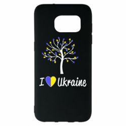 Чехол для Samsung S7 EDGE I love Ukraine дерево