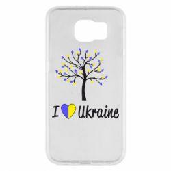 Чехол для Samsung S6 I love Ukraine дерево