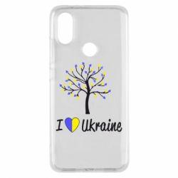 Чехол для Xiaomi Mi A2 I love Ukraine дерево