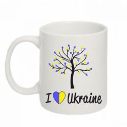 Кружка 320ml I love Ukraine дерево - FatLine